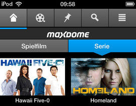 Maxdome iPhone Applikation