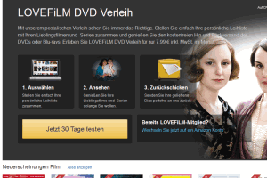Lovefilm DVD Verleih im Test